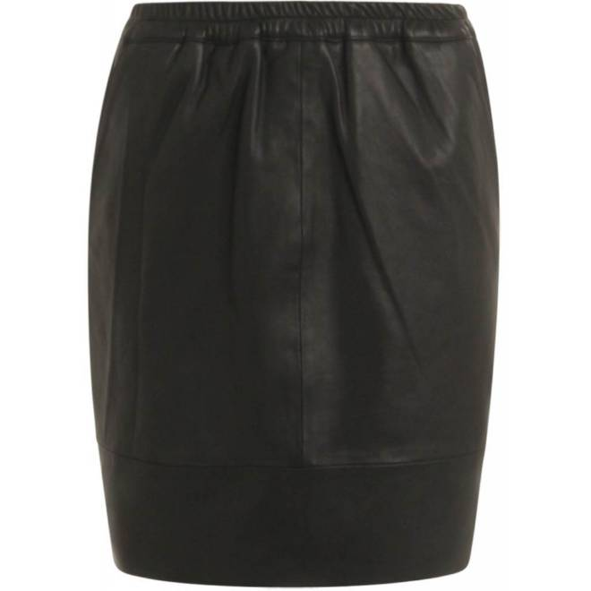 Billede af Coster Copenhagen Leather Skirt BLK