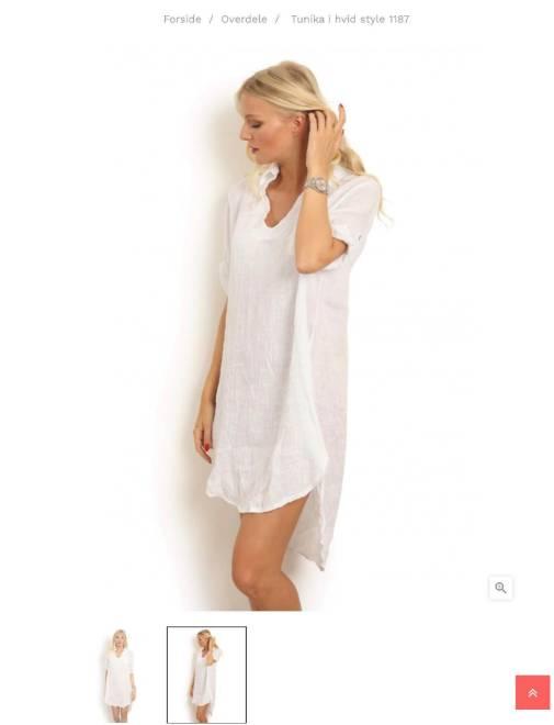 Billede af Copenhagen Luxe hør Dress Hvid1187