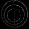 Billede af Snoren Iron ring Black 40 dia