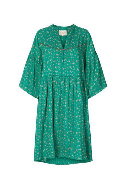 Billede af Lollys Laundry Dress Feline Green