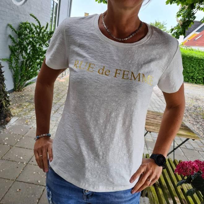 Billede af Rue de Femme Tee Råhvid